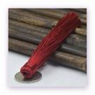 1 Stück Textil-Quaste (ca. 12,0cm) - zum Einkleben - dk red