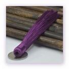 1 Stück Textil-Quaste (ca. 12,0cm) - zum Einkleben - purple