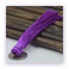 1 Stück Textil-Quaste (ca. 12,0cm) - zum Einkleben - lilac