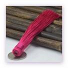 1 Stück Textil-Quaste (ca. 12,0cm) - zum Einkleben - magenta