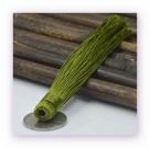 1 Stück Textil-Quaste (ca. 12,0cm) - zum Einkleben - olivine