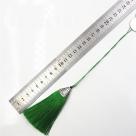 1 Stück Textil-Quaste (ca. 8,0cm) - mit antik silber Endkappe und Faden - fuchsia