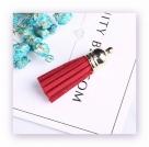1 Stück Textil-Quaste (ca. 4,0cm) - mit goldener Endkappe und Öse - brick red