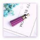 1 Stück Textil-Quaste (ca. 4,0cm) - mit goldener Endkappe und Öse - purple