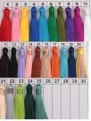 1 Stück Textil-Quaste (ca. 8,0cm) - mit Schlaufe - verschiedene Farben