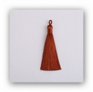 1 Stück Textil-Quaste (ca. 9,0cm) - mit Öse - terracotta