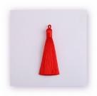 1 Stück Textil-Quaste (ca. 9,0cm) - mit Öse - red