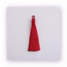 1 Stück Textil-Quaste (ca. 9,0cm) - mit Öse - brick red