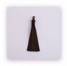1 Stück Textil-Quaste (ca. 9,0cm) - mit Öse - dk brown
