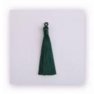 1 Stück Textil-Quaste (ca. 9,0cm) - mit Öse - dk green