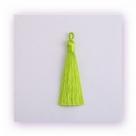 1 Stück Textil-Quaste (ca. 9,0cm) - mit Öse - peridot