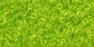 10 g TOHO Seed Beads 11/0 TR-11-0004 Lime Green