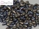 #00.02 - 25 Stück DropDuo Beads 3x6 mm - Zink Iris