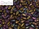 #00.01 - 25 Stück DropDuo Beads 3x6 mm - Purple Iris Gold