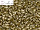 #00.03 - 25 Stück DropDuo Beads 3x6 mm - Aztec Gold