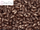 #00.04 - 25 Stück DropDuo Beads 3x6 mm - Vintage Copper