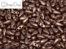 #00.04 - 25 Stück DropDuo Beads 3x6 mm - Vintage Copper