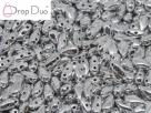 #01.05.00 - 25 Stück DropDuo Beads 3x6 mm - Crystal Full Chrome