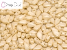 #02.01 - 25 Stück DropDuo Beads 3x6 mm - Chalk White Champagne Luster