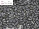 #02.02 - 25 Stück DropDuo Beads 3x6 mm - Chalk White Grey Luster