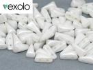 #01.01 - 25 Stück Vexolo Beads 5x8 mm - Alabaster Shimmer