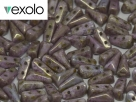 #01.06 - 25 Stück Vexolo Beads 5x8 mm - Alabaster Lila Gold Luster