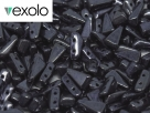 #03.01 - 25 Stück Vexolo Beads 5x8 mm - Jet Hematite