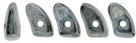 #02.02 - 25 Stück Prong Beads 3x6 mm - Jet Hematite