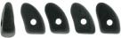 #02.01 - 25 Stück Prong Beads 3x6 mm - Jet Matte