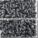 #04.02 - 50 Stück Teacup Beads 2x4 mm - Jet Hematite