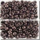 #04.03 - 50 Stück Teacup Beads 2x4 mm - Jet Dk Bronze