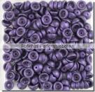 #04.04 - 50 Stück Teacup Beads 2x4 mm - Metallic Suede - Purple