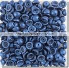 #04.05 - 50 Stück Teacup Beads 2x4 mm - Metallic Suede - Blue