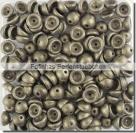#04.06 - 50 Stück Teacup Beads 2x4 mm - Metallic Suede - Gold