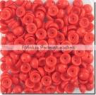 #09.04 - 50 Stück Teacup Beads 2x4 mm - Opaque Red