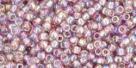 10 g TOHO Seed Beads 11/0 TR-11-0166 - Tr.-Rainbow Lt. Amethyst