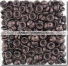 #04.08 - 50 Stück Teacup Beads 2x4 mm - Jet Dk Bronze Matte