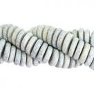 #03.01.02 - 10 Stck. Griechische Keramik ca. 6,5x2,2 mm - stonewash - blue grey