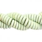 #19.01 - 10 Stck. Griechische Keramik ca. 6,5x2,2 mm - stonewash - soft green
