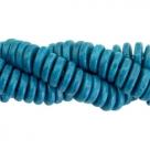 #16.01 - 10 Stck. Griechische Keramik ca. 6,5x2,2 mm - stonewash - mosaic blue
