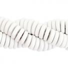 #24.01 - 10 Stck. Griechische Keramik ca. 6,5x2,2 mm - stonewash - white