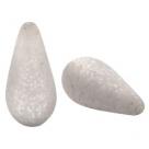 #04 - 1 Stück Polaris-Elements Perlen Tropfen Paipolas - Ø 20x10 mm - matt lt silver shade