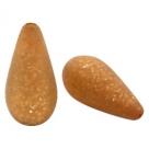 #02 - 1 Stück Polaris-Elements Perlen Tropfen Paipolas - Ø 20x10 mm - matt camel brown