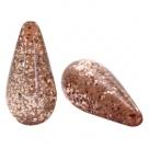 #03.01 - 1 Stück Polaris-Elements Perlen Tropfen Paipolas - Ø 20x10 mm - shiny taupe brown