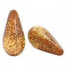 #02.01 - 1 Stück Polaris-Elements Perlen Tropfen Paipolas - Ø 20x10 mm - shiny camel brown