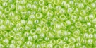 10 g TOHO Seed Beads 11/0 TR-11-0105 - Tr.-Lustered Lime Green