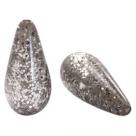 #05.01 - 1 Stück Polaris-Elements Perlen Tropfen Paipolas - Ø 20x10 mm - shiny warm grey