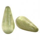 #10.02 - 1 Stück Polaris-Elements Perlen Tropfen Mosso - Ø 20x10 mm - shiny salvia green