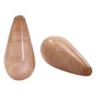 #03.02 - 1 Stück Polaris-Elements Perlen Tropfen Mosso - Ø 20x10 mm - shiny taupe brown