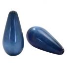 #07.02 - 1 Stück Polaris-Elements Perlen Tropfen Mosso - Ø 20x10 mm - shiny night blue